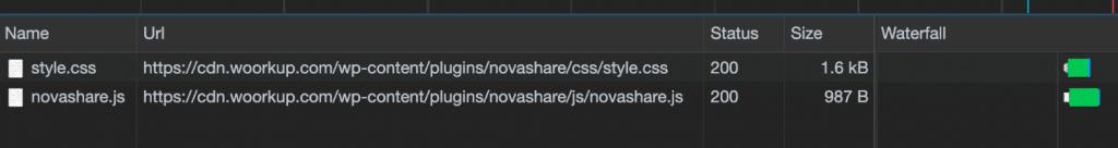 Novashare file sizes