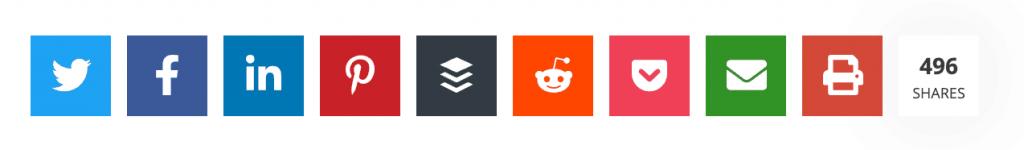 Novashare social share buttons