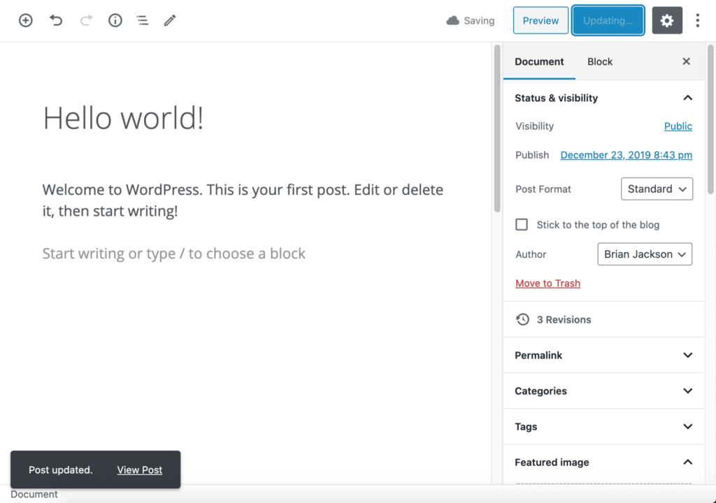 No more refreshing the WordPress Editor