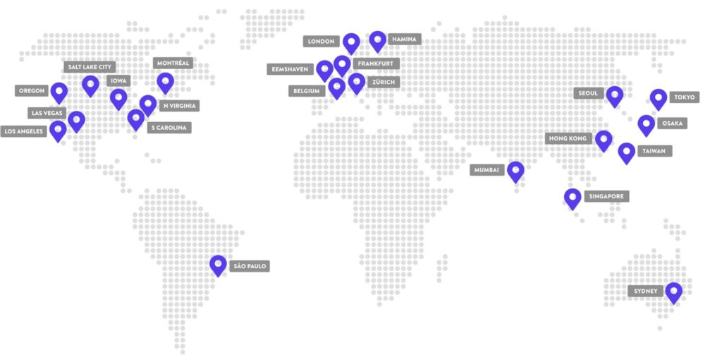 Google Cloud data center locations