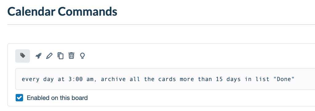 Automatically archive Trello cards