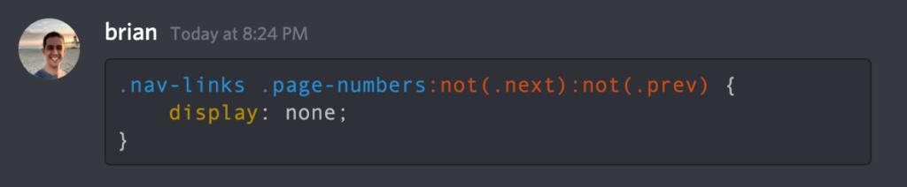 Discord code syntax highlight