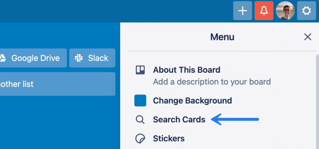 Search Trello cards
