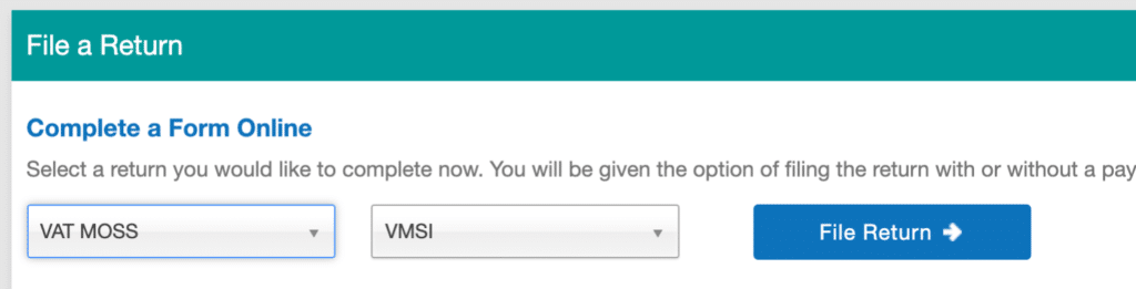Complete VAT MOSS form online