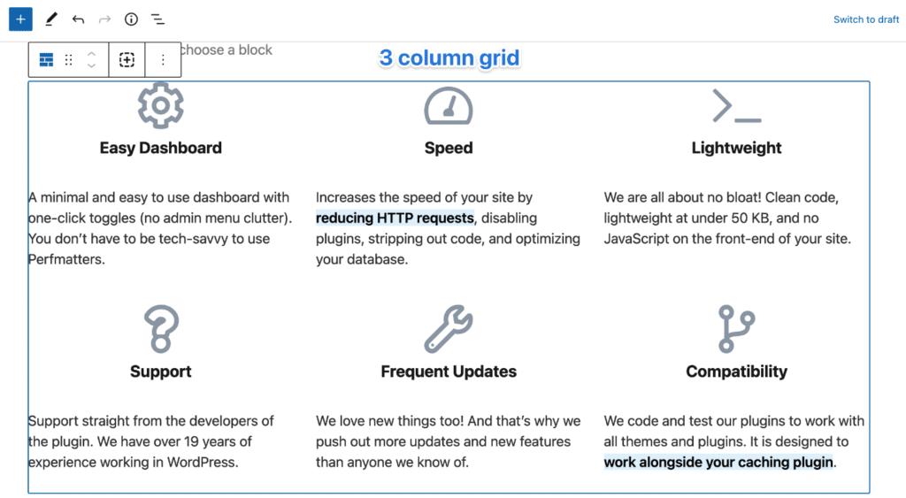 3 column grid
