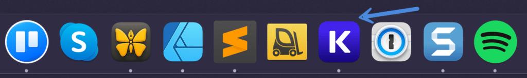 DevKinsta in Mac dock