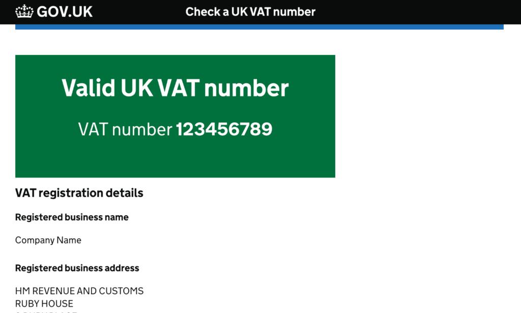 UK VAT number validation