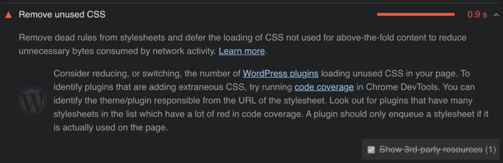 Remove unused CSS