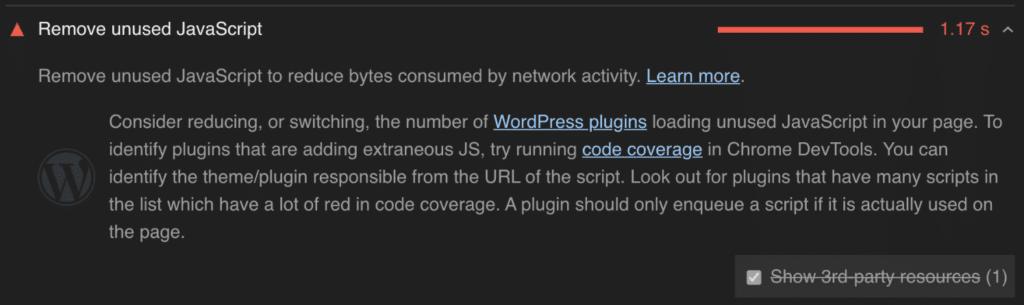 Remove unused JavaScript