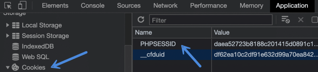PHPSESSID cookie in Chrome