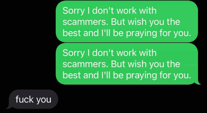Spamming the scammers